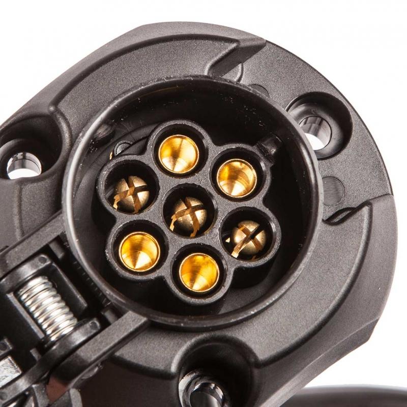 7 poliger kabelsatz e satz f r anh ngerkupplung kompletter. Black Bedroom Furniture Sets. Home Design Ideas