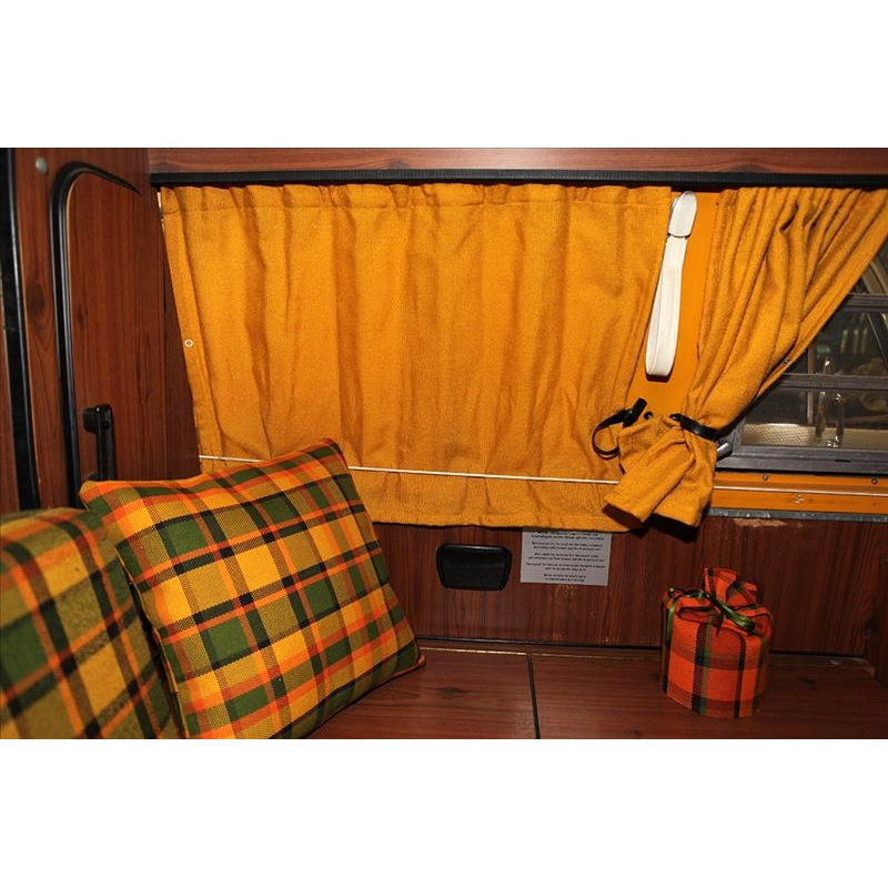 type2 late bay westfalia curtain set yellow bus. Black Bedroom Furniture Sets. Home Design Ideas
