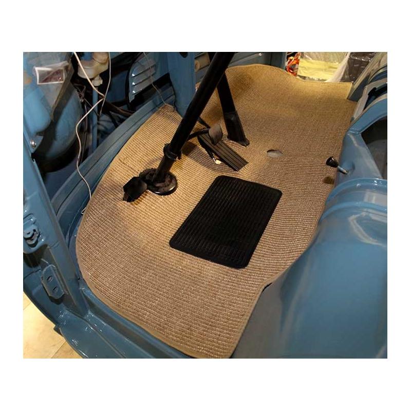 T2a Teppich Fahrerkabine beige Sisal TopQualität, BUSok