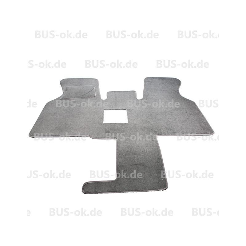 T4 Teppich hellgrau für Fahrerhaus mit Mitteldurchgang