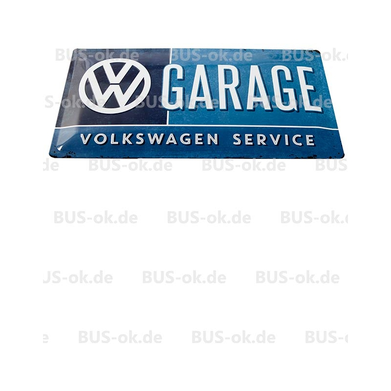 Vw garage vintage blechschild gro 25cm x 48cm gew lbt for Garage volkswagen les fins