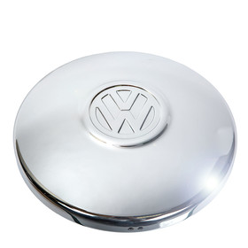 Type2 bay T25 Hub Cap Chrome Top, orig. VW OEM partnr....