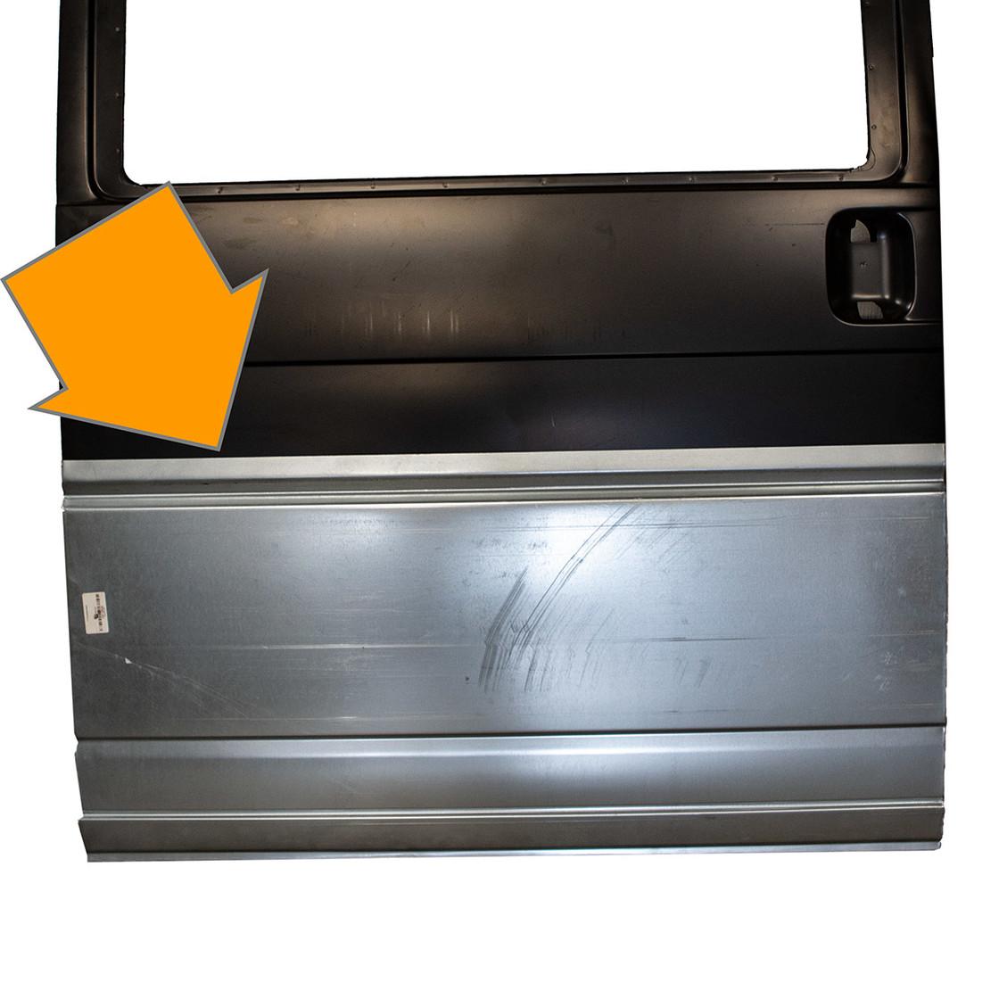 t4 reparaturblech schiebet r aussen ca 57cm hoch verglnr 70184310 39 60. Black Bedroom Furniture Sets. Home Design Ideas