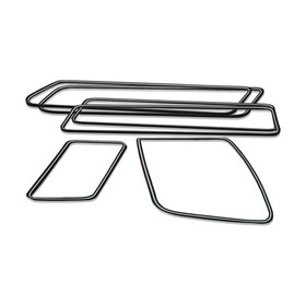 Type2 bay window Set of seals with chrome trim