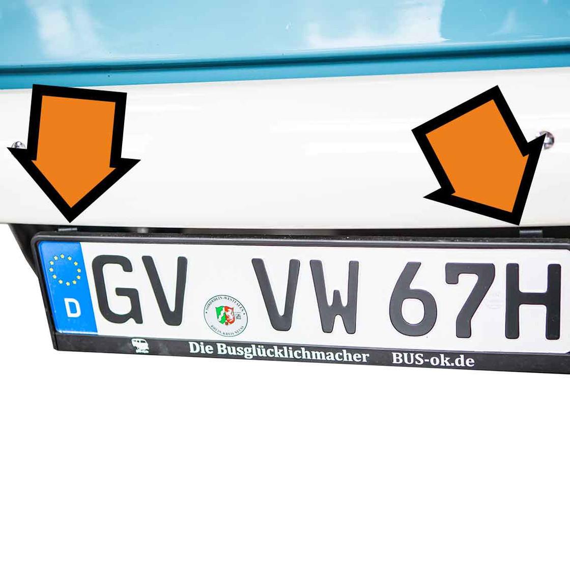Paar Kennzeichenhalter zum Anklemmen an die Stoßstange. - BUS-ok.de ...