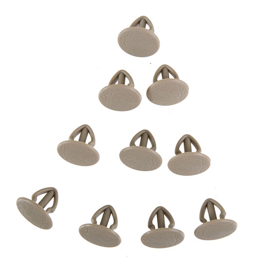 T25 set of 10 trim clips, Lightgrey, BUS-ok Exclusive, Top! OEM-Nr. 251-867-299