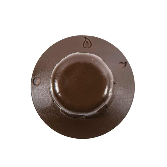 Knob for gas cooker, brown