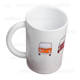 Melamine Mug with lucky buses
