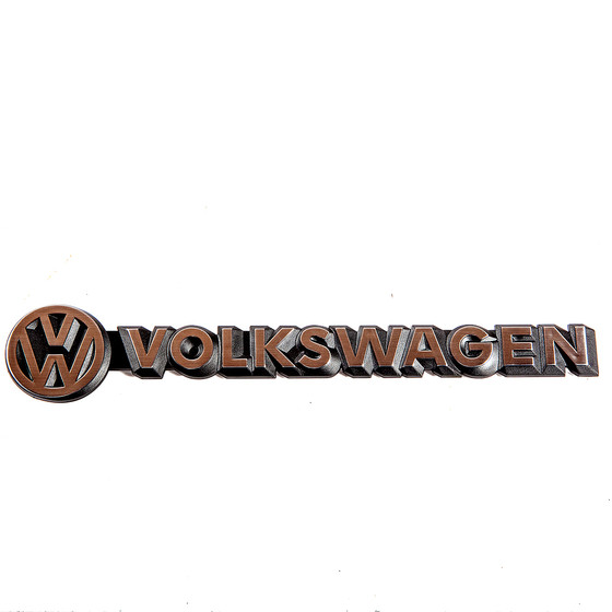 t3 volkswagen schriftzug chrom original top verglnr. Black Bedroom Furniture Sets. Home Design Ideas