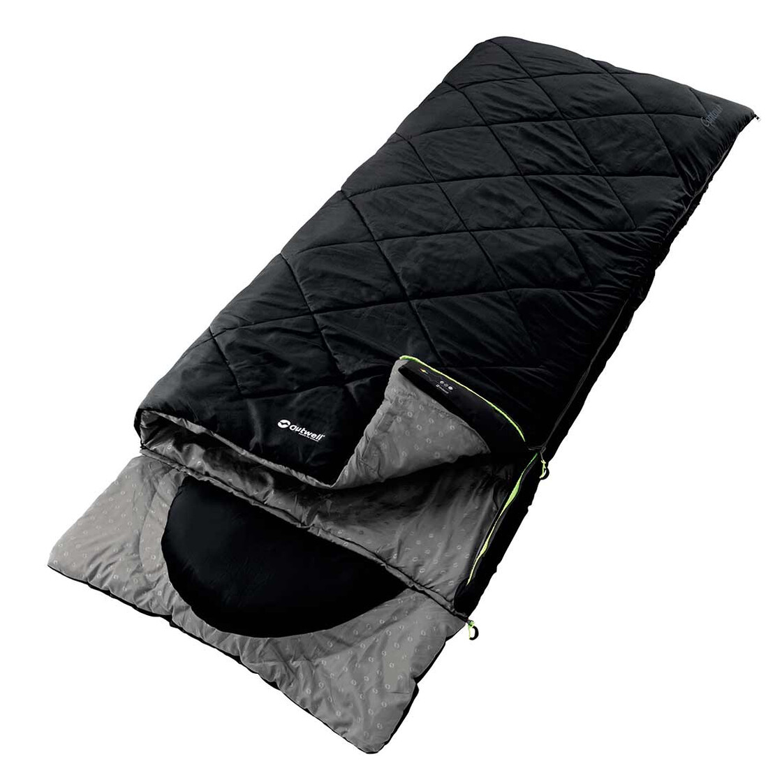 Outwell Sleeping Bag With Built In Pillow Contour Black