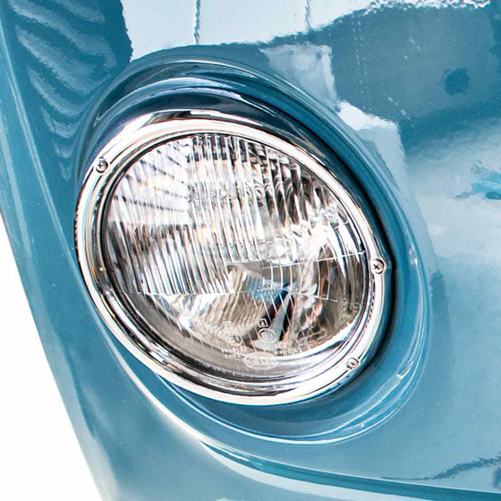 Type2 early bay Genuine Hella Headlight with chrome ring right OE-Nr. 211-941-040K