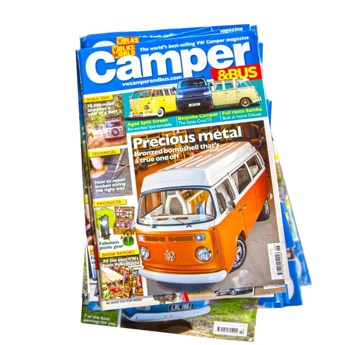 camper bus magazin 5 ausgaben f r vw bus freunde bus. Black Bedroom Furniture Sets. Home Design Ideas