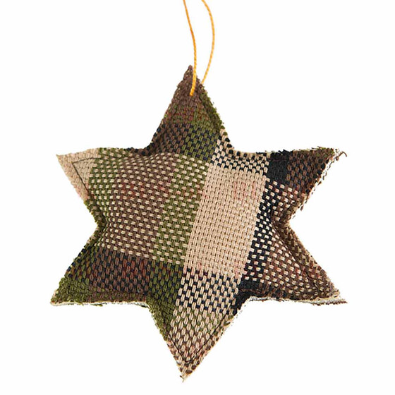 Nice and funny Christmas-Star for your car, your tree, your door. This is the brown one, handmade in Germany exclusively for BUS-ok.de