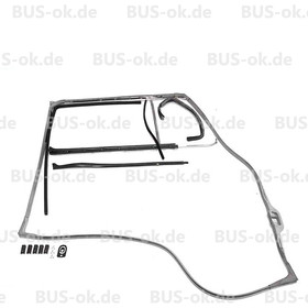 T2 Cab Door Seal Kit Nearside left (10 parts) for fixed...
