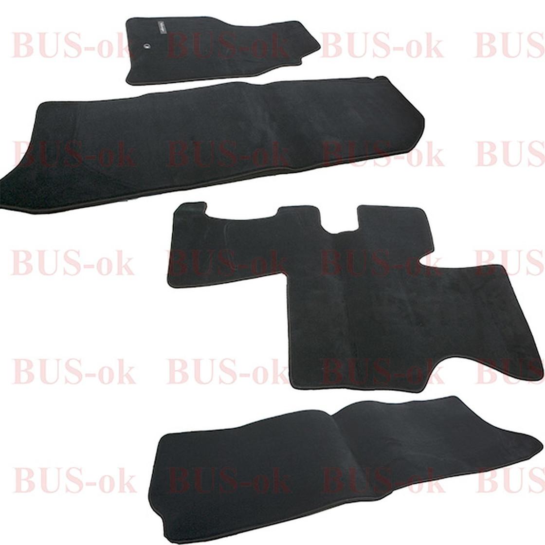 vw bus t4 carpet set 4 pieces premium black vw original. Black Bedroom Furniture Sets. Home Design Ideas