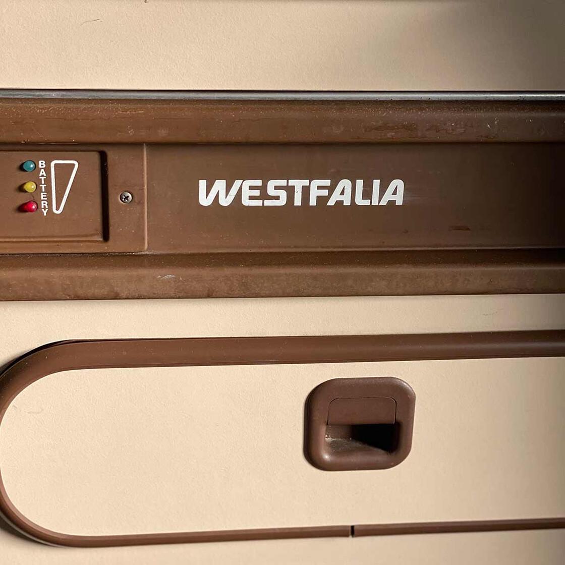 T3 Aufkleber Westfalia Schwarz Fur Den Kuchenblock Bus Ok De 5 00