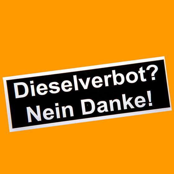 Sticker Diesel Ban No Thanks Bus Okde 410