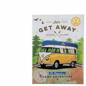 Magnetschild VW Bus T1 Let´s get away Outdoor Explorer