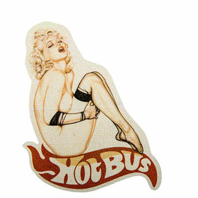 Aufkleber Hot Bus mit Pin Up Girl