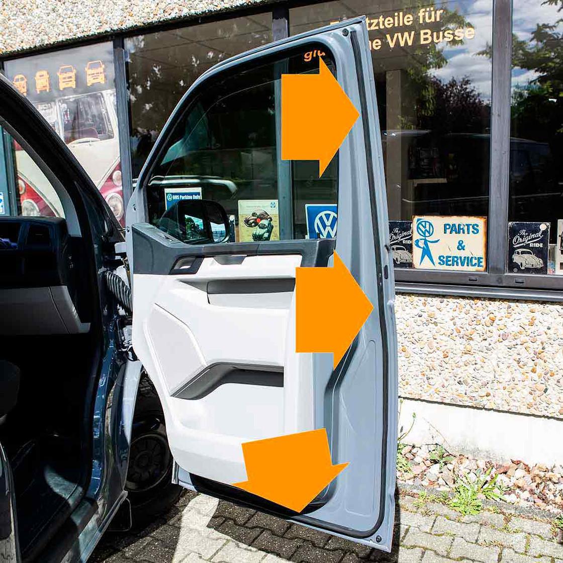 Zusatzdichtung Upgrade selbstklebend Top T5 T6 Tür Staubschutzdichtung
