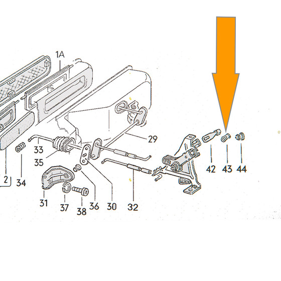 vw bus heater diagram type2 bay  clip for heater lever  used  8 67 7 71  orig vw  oem  type2 bay  clip for heater lever  used