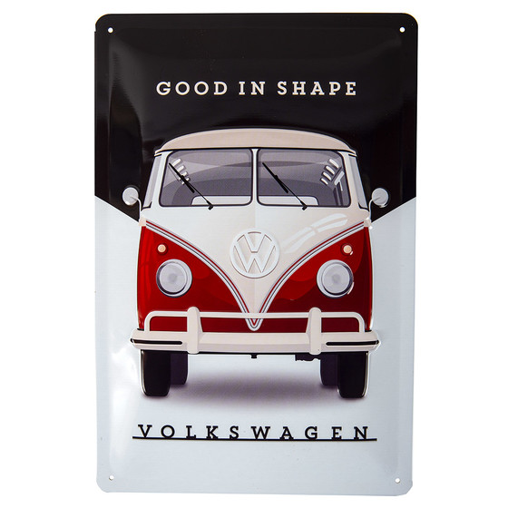 VW Bulli Metal Sign Good in Shape Samba 20cm x 30cm