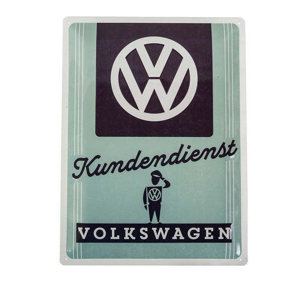 VW Garage Metal Sign Kundendienst Volkswagen 30cm x 40cm