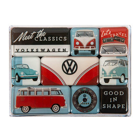 Magnet-Set 9teilig VW Meet the Classics Bulli T1