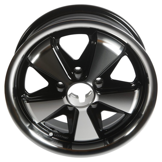 Type2 bay and T25 SSP Fooks Alloy Wheel Black/Polished 5,5Jx15 with 5x112 Stud Pattern ET20