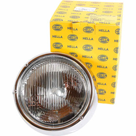 Type2 early bay Genuine Hella Headlight with chrome ring...