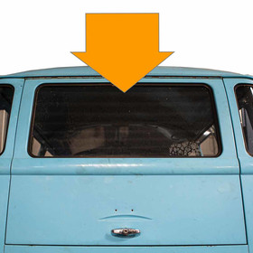 Type2 split glas for rear safariwindow up to 63 used