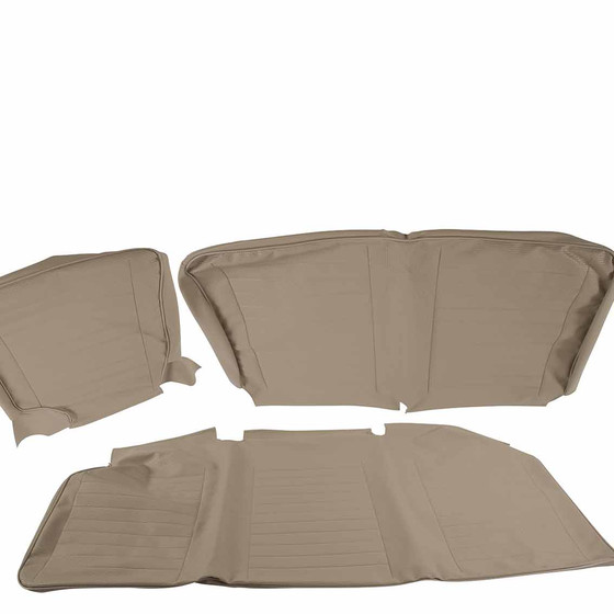 Type 2 bay 08/1967 - 07/1979 seat covers for middle bench seat with backrest fold down off white