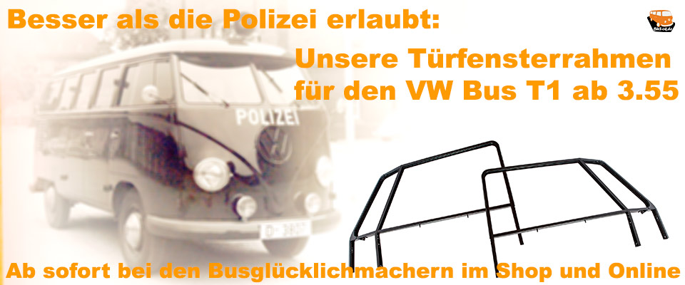 Türfensterrahmen für VW Bus T1